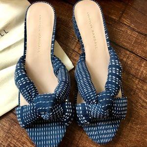 NEW Loeffler Randall Elsie Sandals Size 7.5 Navy